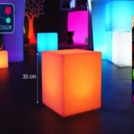Cube lumineux 40x40