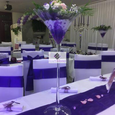 Vases martini mariage
