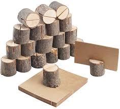 Marque-place en bois rustiqur